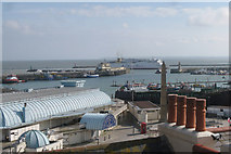 TR3864 : Ramsgate Harbour and Rooftops by Oast House Archive