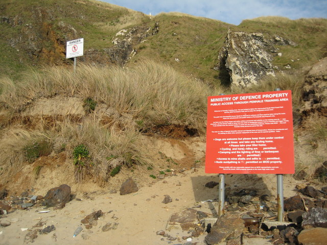 Warning signs, Penhale Sands