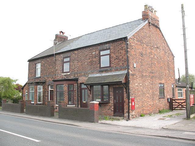Houses with postbox, Sproston Green
