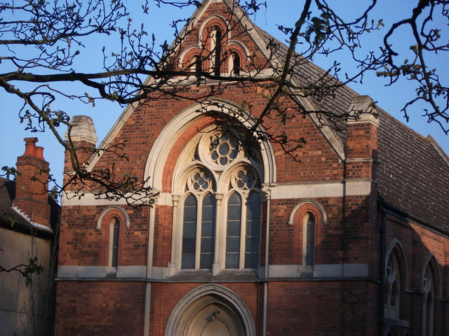 Detail of United Reformed Church, Abbey Hill, Kenilworth