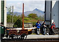 SH5738 : Syncronized Eating at Porthmadog, Gwynedd by Peter Trimming
