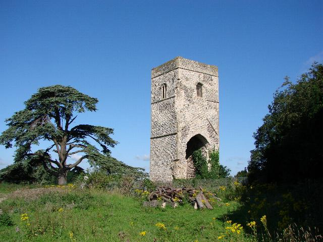 Tower of Fornham St Genevieve's church
