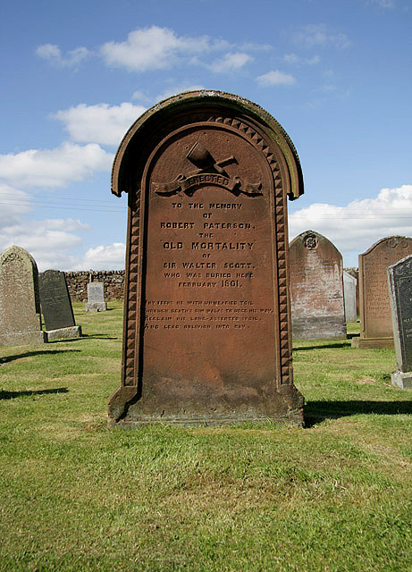 The gravestone of Robert Paterson ('Old Mortality')