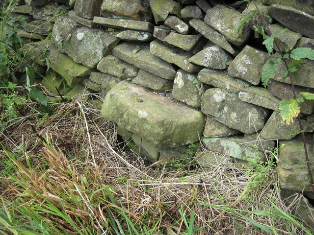 Benchmark on wall at Capplethwaite Moss