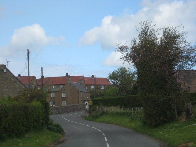 Road heading in to the village of Hutton