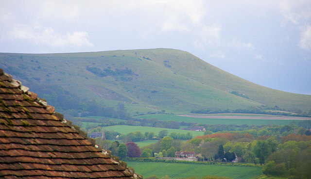 Firle Beacon from Wilmington Priory