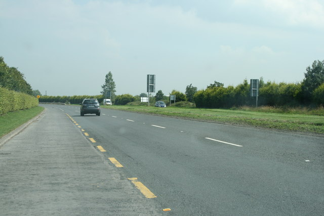 The R445 road, County Kildare
