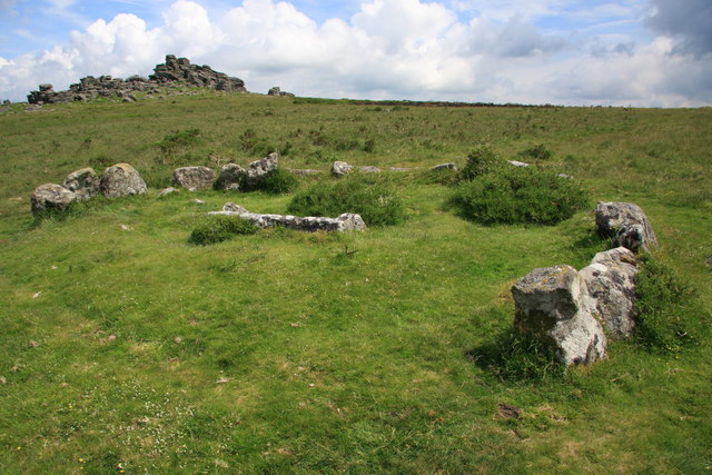 Cairn circle and cist