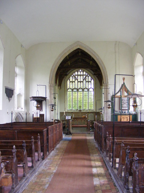 The interior of St.Lawrence Church, Brundish