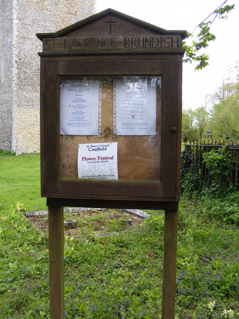 Notice Board of St.Lawrence Church, Brundish