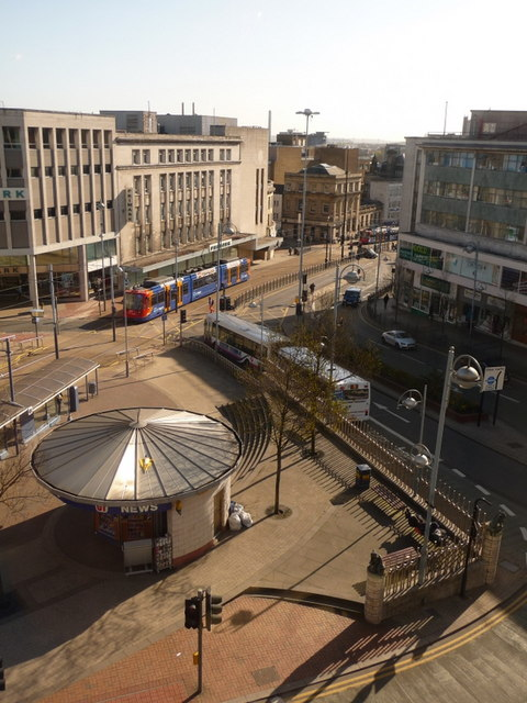 Sheffield castle square and high street chris downer for Timetable 85 sheffield