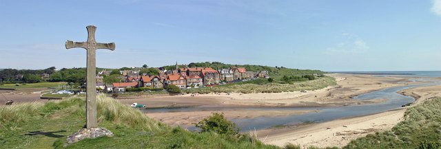 Alnmouth from Chapel Hill