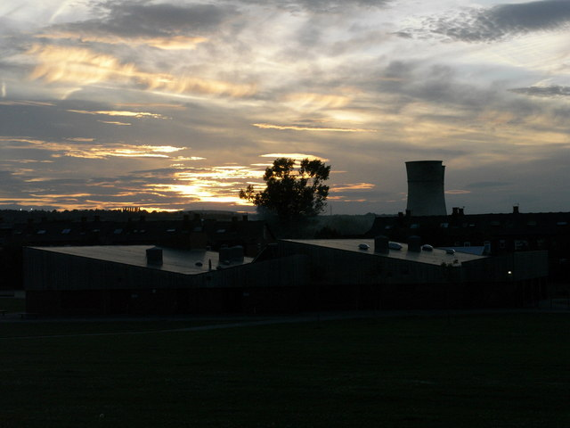 A final sunset over Tinsley cooling towers
