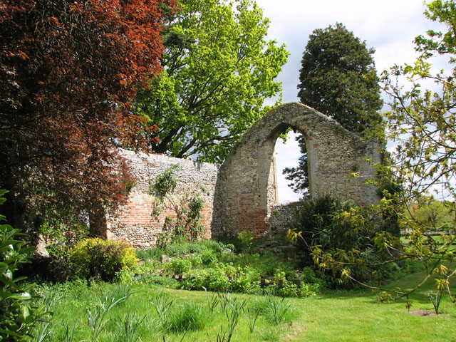 The ruin of St Mary Magdalen's church, Oxborough Hythe