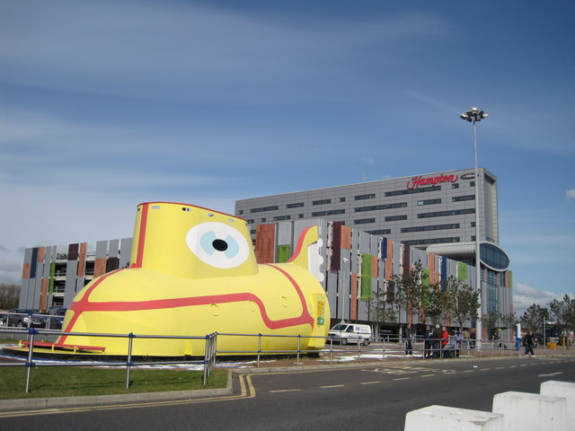 Yellow Submarine At John Lennon Airport Sue Adair