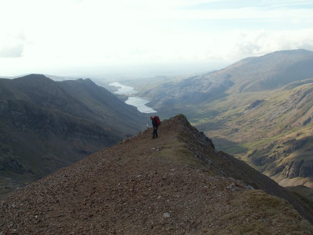 Nearing The End Of Crib Goch North Ridge 169 John Fielding