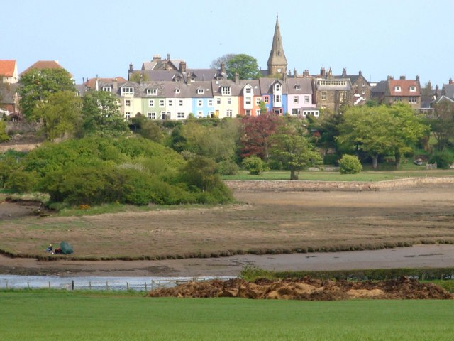 Colourful houses in Alnmouth village