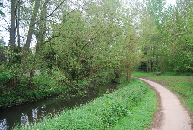 Riverside path, River Arun, Horsham