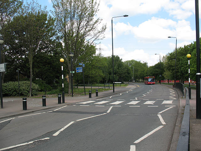 Zebra crossing on Stansfeld Road