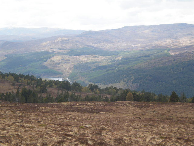 Glen Moriston from above Coille na Feinne