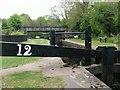 SJ9065 : Disused railway bridge crosses Bosley Locks by Raymond Knapman
