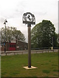 TQ4445 : Edenbridge Village Sign by David Anstiss