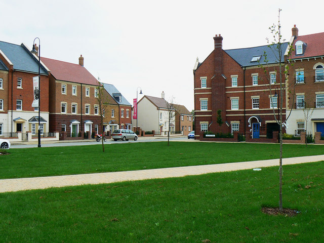 Completed housing, Wichelstowe, Swindon