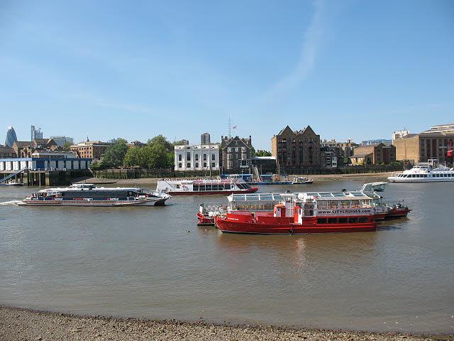Thames passenger boats at Rotherhithe