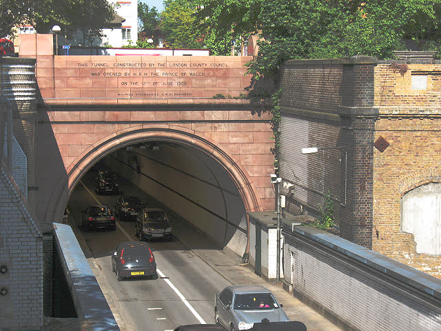 Rotherhithe road tunnel: southern portal