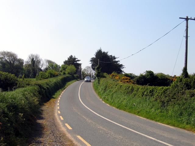 The R734 south of Winningtown, Co. Wexford