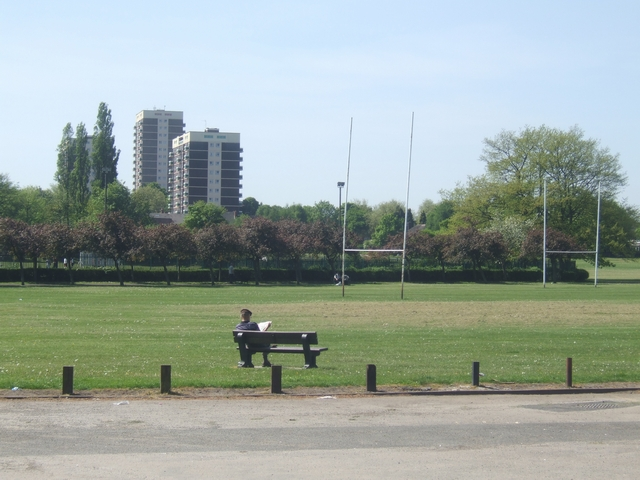 A quiet moment in the King George V Memorial Playing Fields