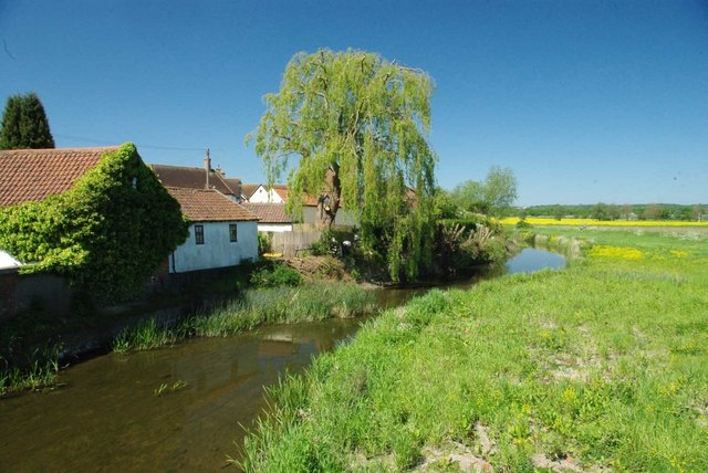 tq4696 river roding abridge near to abridge essex great britain