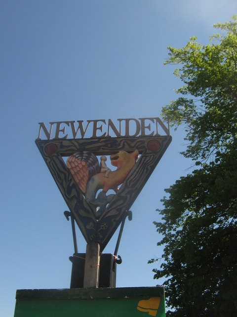 Newenden Village Sign (close-up)