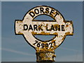 SY7692 : Tincleton: detail of Dark Lane finger-post by Chris Downer