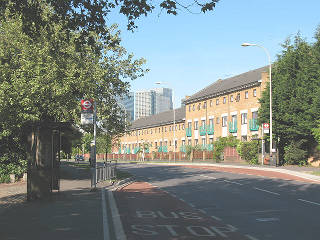 Bus stop on Redriff Road, Rotherhithe