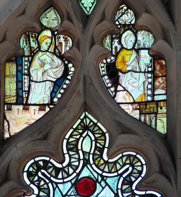 St Mary's church in Yaxley - medieval glass