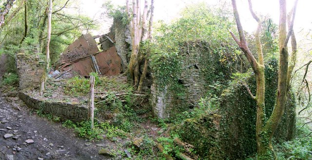 Ruined Mill In Troserch Woods 169 Nigel Davies Geograph