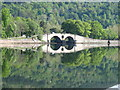 NN0909 : Double-arch bridge and reflection, Inveraray by David Hawgood