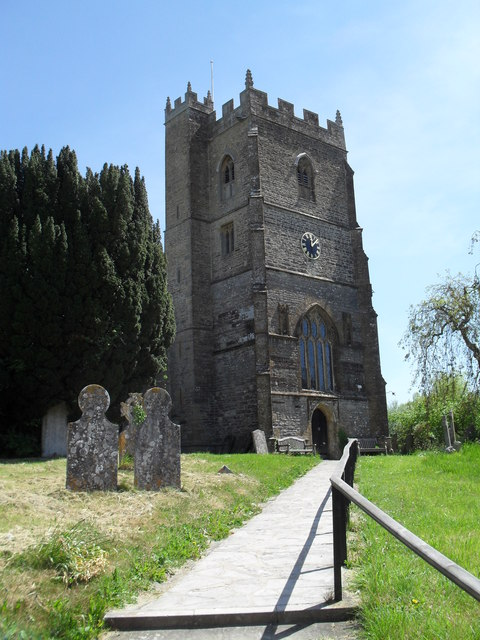 St Mary & St James, Hazelbury Bryan- church tower from the north-west