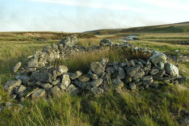 Crofting settlement ruins, Dunbeath Water