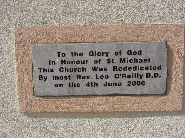 Plaque on Clifferna Church