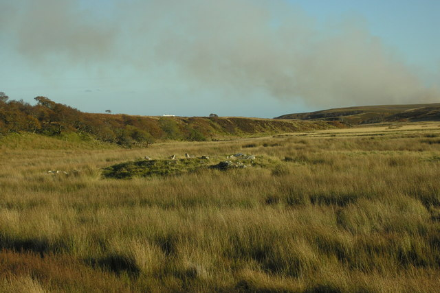 Remains of crofting settlement, Dunbeath Water