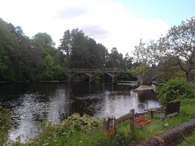 Joseph Mitchell's trestle bridge, Fort  Augustus.