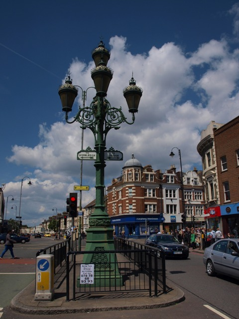Vanity lamp at Tooting Crossroads