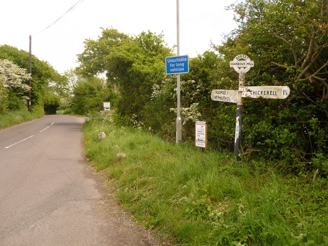 Chickerell: signs at Coldharbour