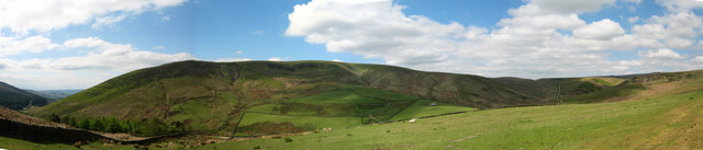 A Panoramic View Of Whin Fell Taken From Middle Knoll