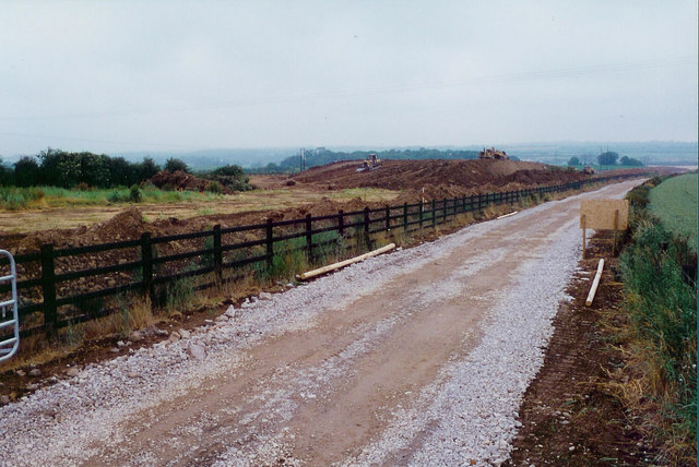 Motorway construction at Oldbridge, Co. Meath