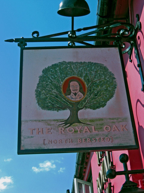 The Royal Oak pub sign, 336 Chichester Road, North Bersted