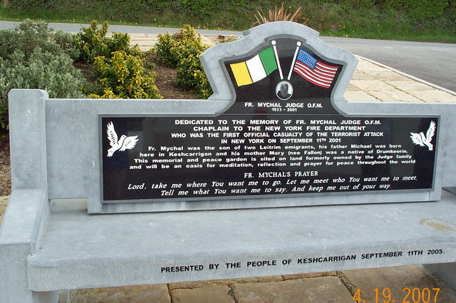 Fr. Mychal Judge Memorial Near Keshcarrigan