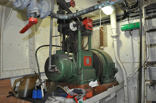 Electric Generator in the Engine Room
